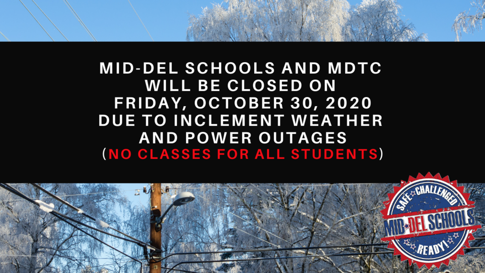 Mid-Del Schools Will Be Closed on October 30, 2020