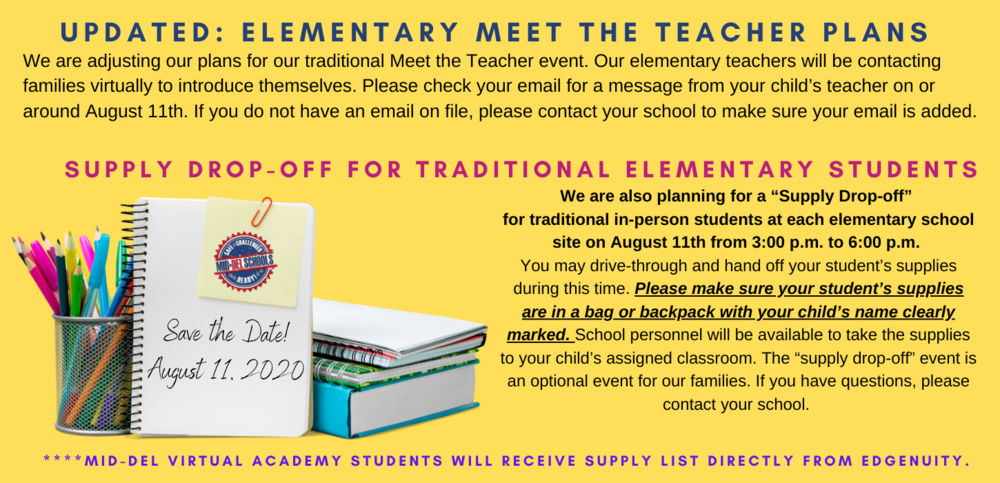 Updated: Elementary Meet the Teacher Plans
