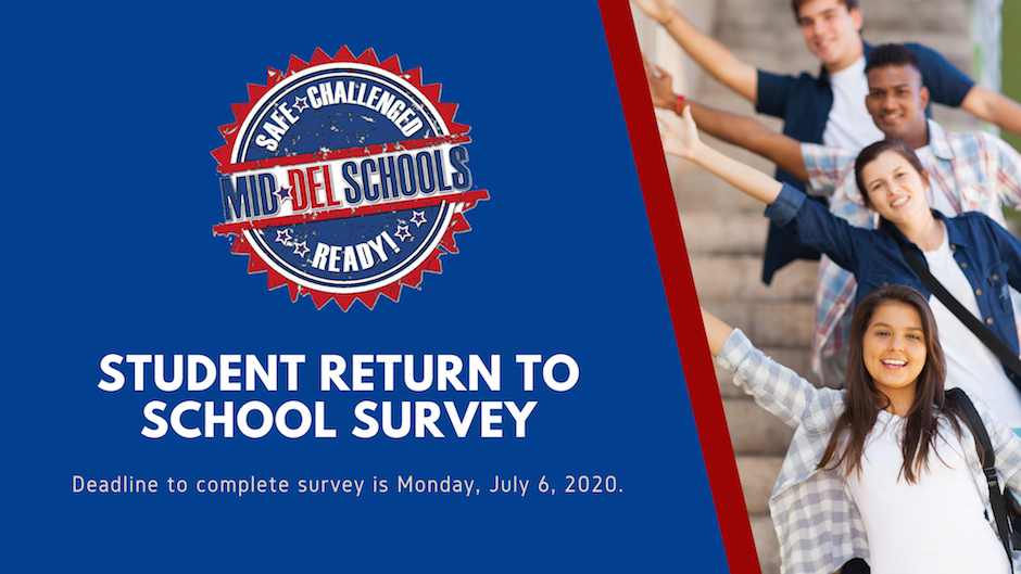 Student Return to School Survey: Deadline is July 6