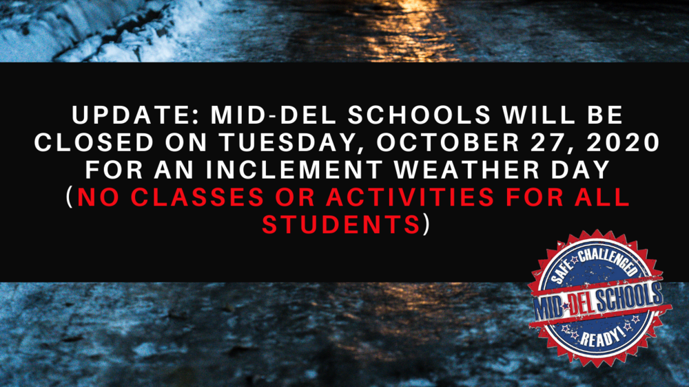 Mid-Del Schools  Will Be Closed on October 27th