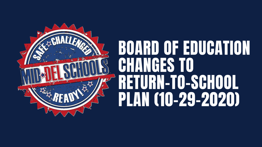 Changes to Return-to-School Plan (10-29-20)