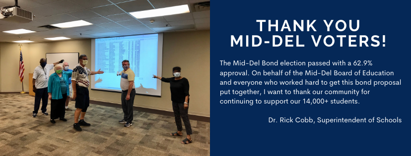 Thank You Mid-Del Voters! The Bond Election Passed!