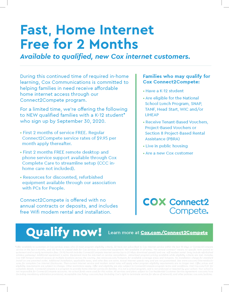 Cox Connect2Compete - Affordable Home Internet from Cox Communications