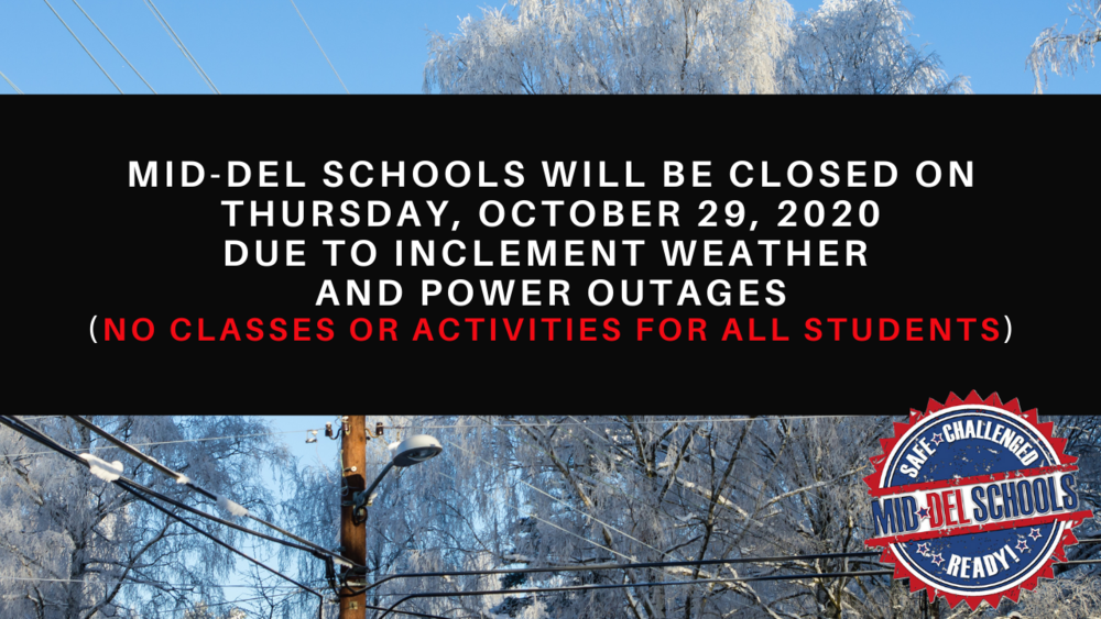 Mid-Del Schools  Will Be Closed on October 29th