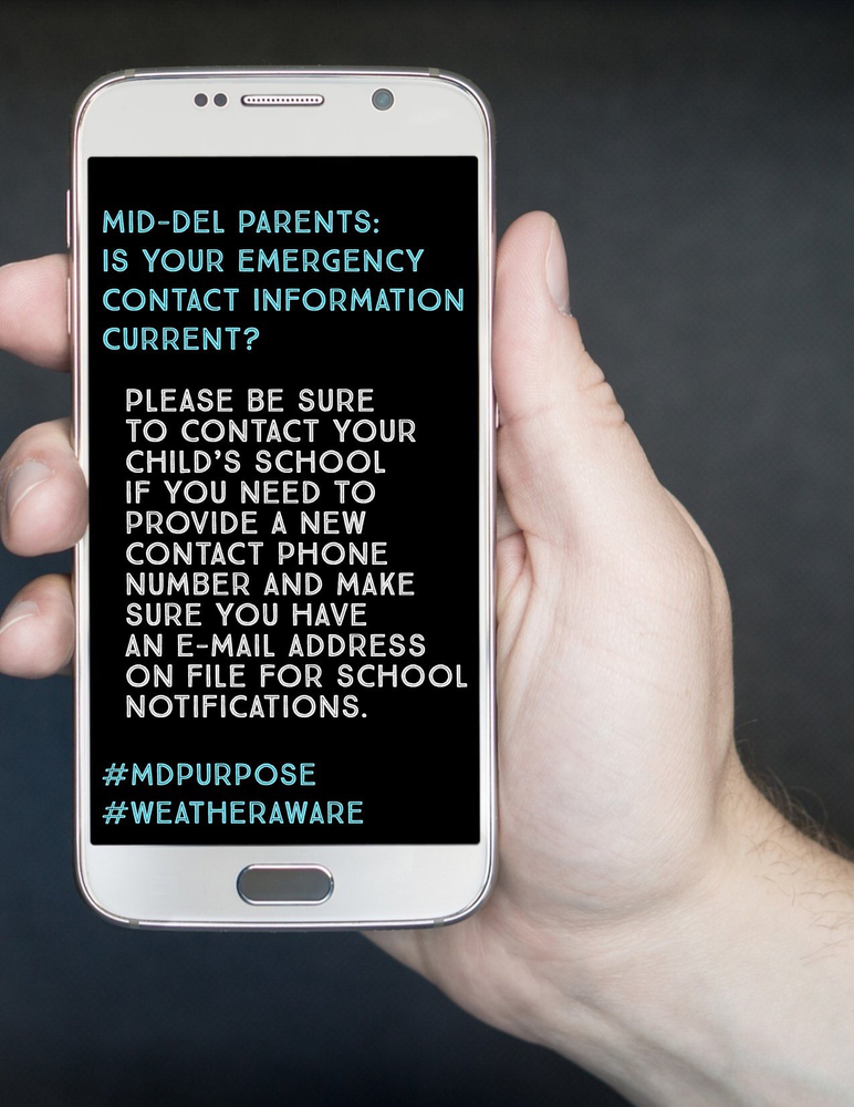 Parents: Please Make Your Emergency Contact Information Current