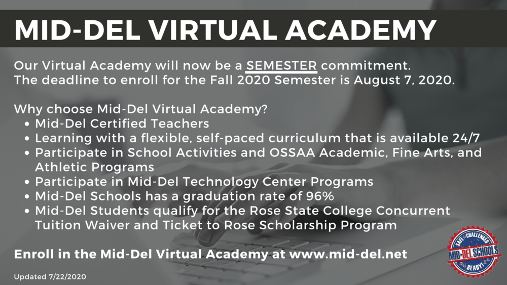 Mid-Del Offers Virtual Learning with Semester Commitment