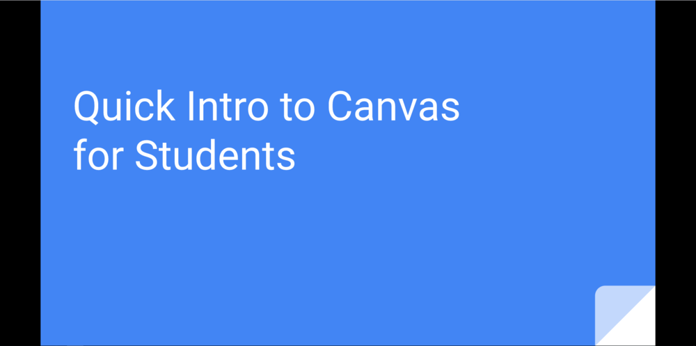 Canvas Guide for Students