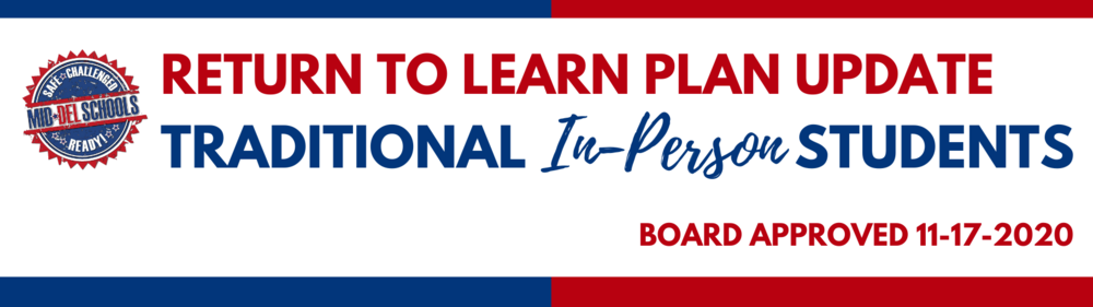Return to Learn Plan Update 11-17-2020 for In-Person Students