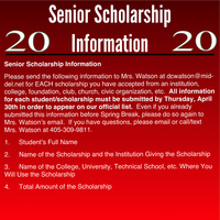 Senior Scholarship Information