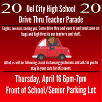 DCHS Drive Thru Teacher Parade.