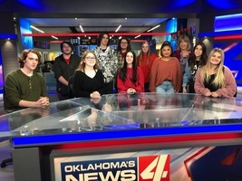 Mrs. Zurmehly and her Art Students visit KFOR!!!