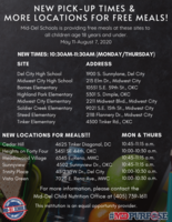 New Pick-Up Times & More Locations for FREE Meals!