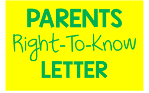 Parents Right-To-Know Letter