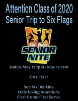 Senior Trip to Six Flags