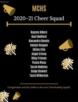 Congratulations to the 2020-2021 Bomber Cheer Squad!