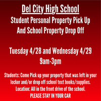 Del City High School Student Personal Property Pick Up And School Property Drop Off
