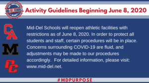 Mid-Del Schools Activities Update Beginning June 8, 2020